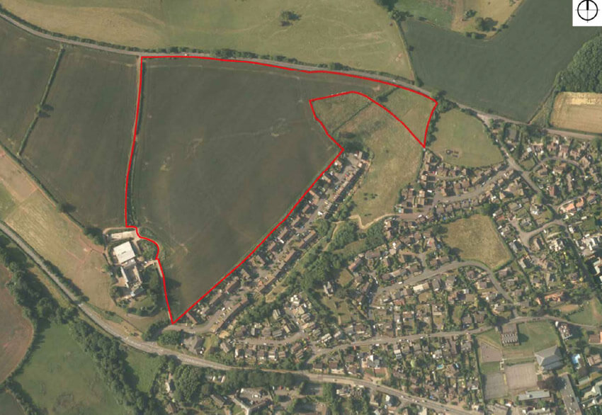 Location of Land at Chapel Down Farm Development, Crediton